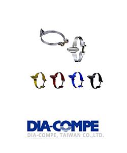 DiaCompe Colliers de serrage Guide durite 25.4 mm (Kit de 3)