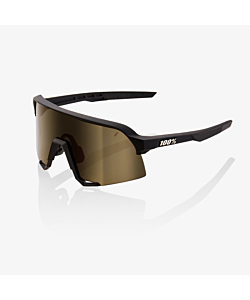 Lunettes 100% Soft Tact Black / Soft Gold Mirror Lens