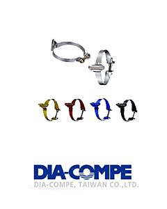 DiaCompe Colliers de serrage Guide durite 28.6 mm (Kit de 3)