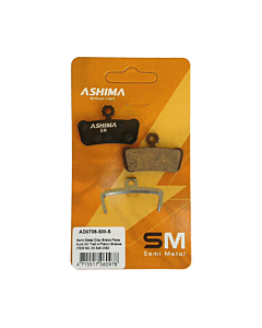 Ashima Avid X0 Paire Plaquettes Semi Métalliques 4 Pistons