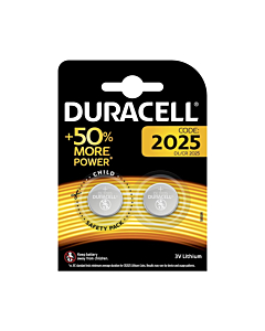Piles au Lithium Duracell CR2025 3V (paire)