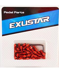 Exustar Kit Picots De Rechange Peour Pédales Am-Fr-Dh Couleur Rouge