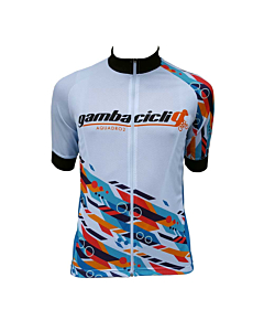 Maillot Manches Courtes Gambacicli Excellence Replica#Team