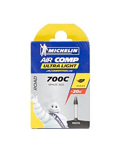 Chambre à Air Route Michelin Air Comp Ultralight A1 700x18-25C Presta 60mm