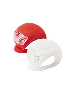 Paire de feux arrière à LED en silicone MVTek  (blanc + rouge)