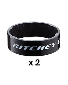Entretoises de Direction Ritchey WCS Glossy Black 10mm (x2)