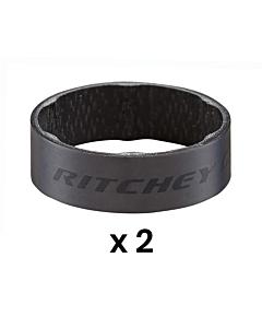 Entretoises de Direction Ritchey WCS Matte Black 10mm (x2)