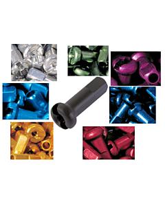 Sapim Ecrous Aluminium 14mm Colorés - Boîte 100 Pièces
