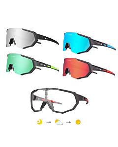 Lunettes de Cyclisme Tiger + 5 Lentilles + Monture Myopia