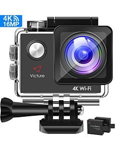 4K Action Camera 16MP - Ecran LCD - WIFI - Étui étanche 30m - Accessoires