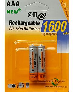 Set 2 Batteries Ministilo AAA Rechargeables RTU 1350 mAh